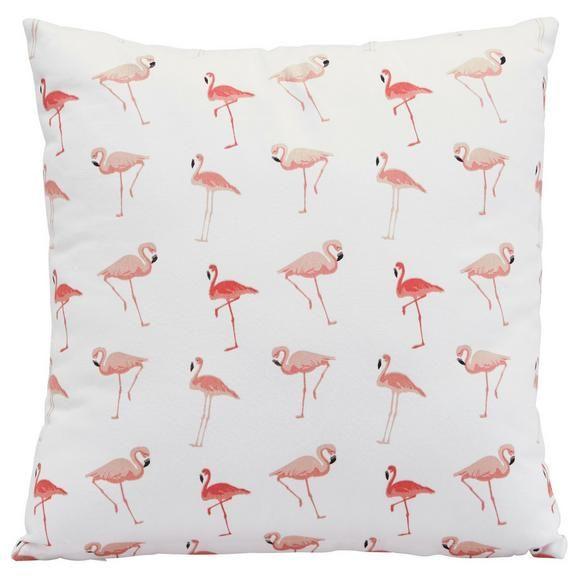 Zierkissen Flamini Weiss Pink Ca 40x40cm Pink Weiss Textil 40