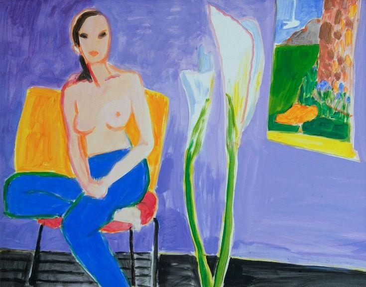 'Model and Lilies II', 1998
