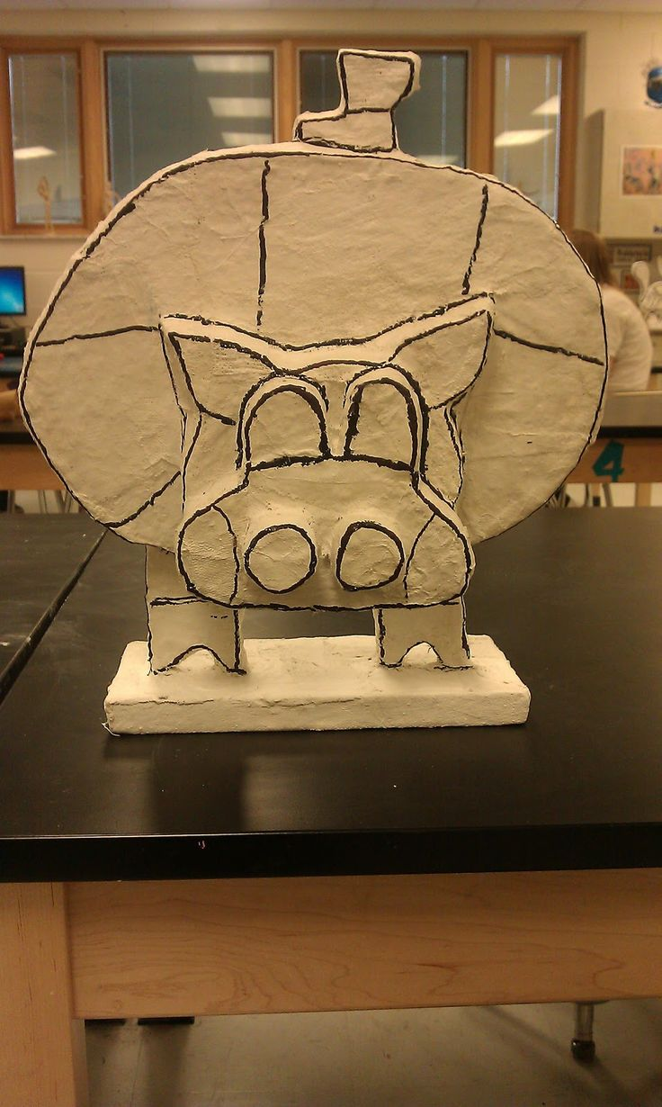 Art with Ms. Lloyd: 7th grade 3D- Romero Britto Animal Sculpture