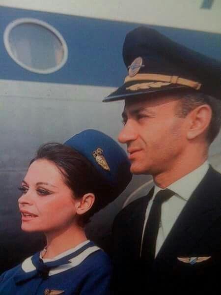 Olympic Airways Greece. Stewardess uniform by Coco Chanel 1966-1968