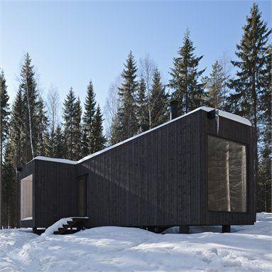 Four-cornered villa - Virrat, Finland - 2010 - Avanto Architects #architecture #finland #snow #mountain