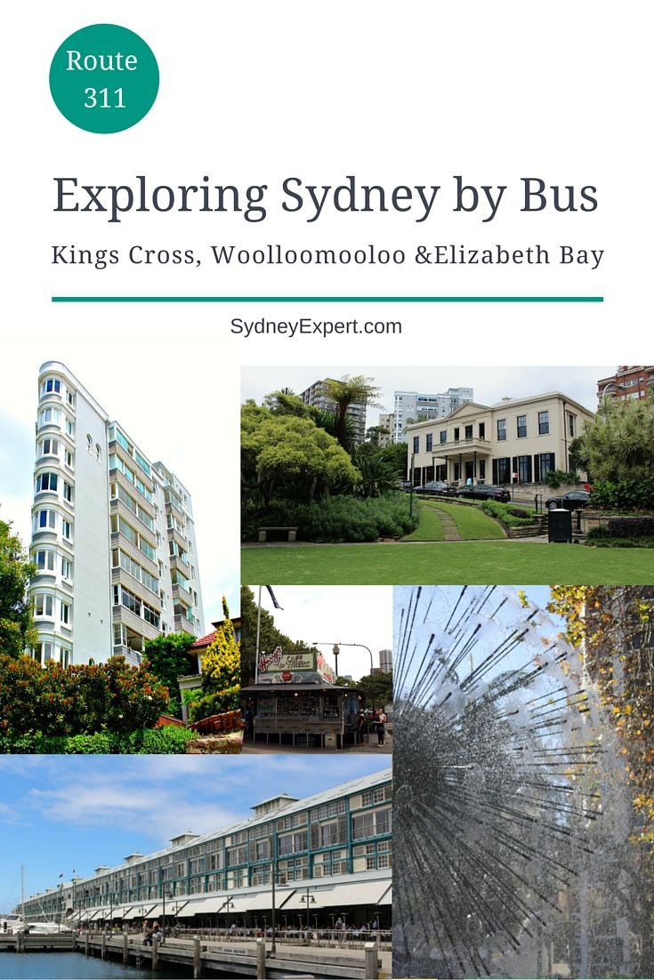 This bus route takes you from Central Station to Kings Cross, Elizabeth Bay, Potts Point, Woolloomoolloo and finishes at the new harbour park Barangaroo