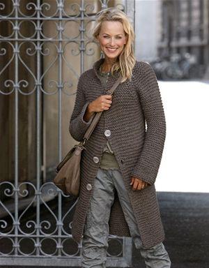 Garter stitch cardigan pattern. Someday...