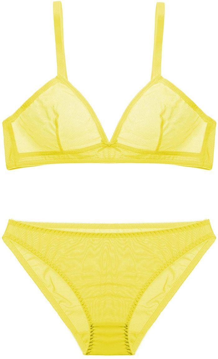 Yellow Lingerie Set