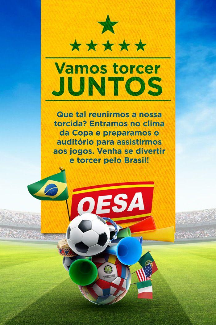 Email marketing Interno - Convite para jogos da copa