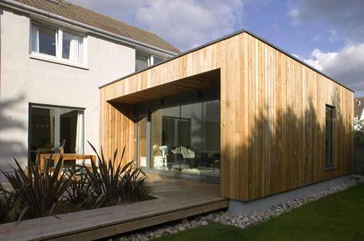 cedar cladding and larch cladding with zinc - Google Search