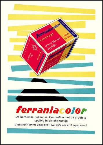 An early German Ferraniacolor advertisement