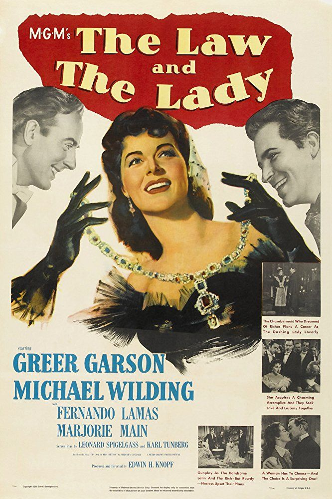The Law and the Lady (1951) 6 of 6 Greer Garson, Fernando Lamas, Marjorie Main, and Michael Wilding in The Law and the Lady (1951)  Titles: The Law and the Lady People: Greer Garson, Fernando Lamas, Marjorie Main, Michael Wilding Characters: Fay Cheyney, Arthur Dilling, Charles, Lady Maria Frinton