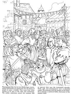 coloring pages middle ages - photo#9