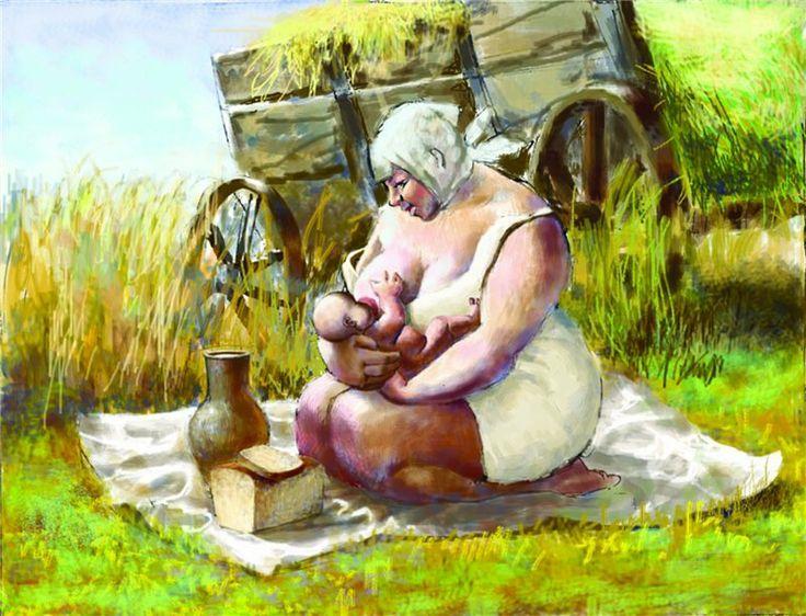 Иванов А.Г. Кормящая Ivanov A.G. Nursing mother