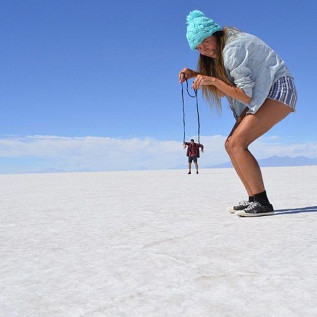 15 fotos criativas feitas por viajantes no maior deserto de sal do mundo