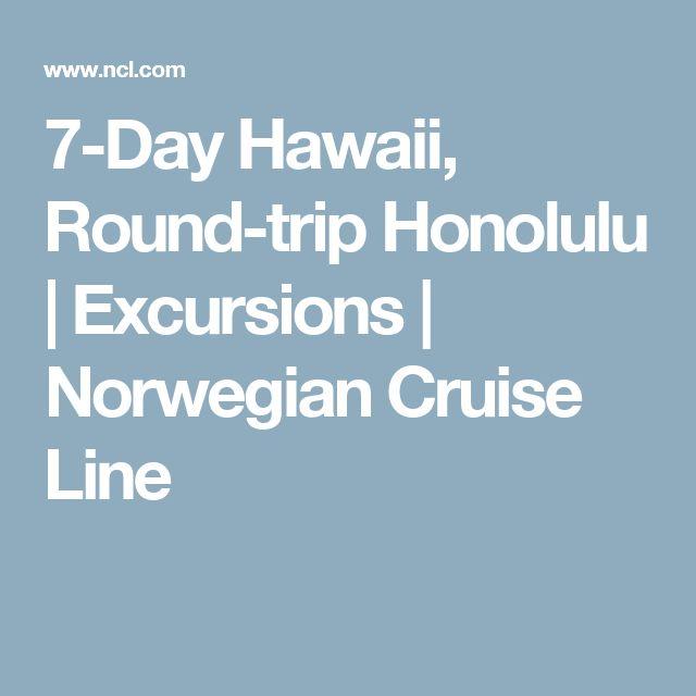 7-Day Hawaii, Round-trip Honolulu | Excursions | Norwegian Cruise Line