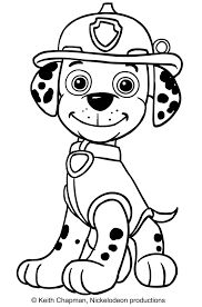 Image result for paw patrol marshall coloring page | Paw ...