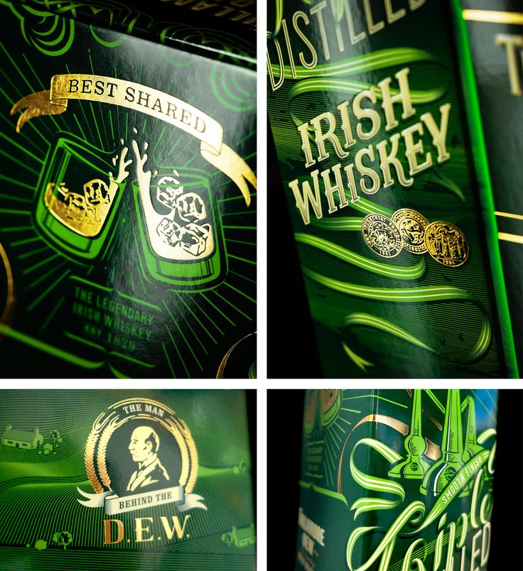 Behance :: Editing Tullamore D.E.W Packaging