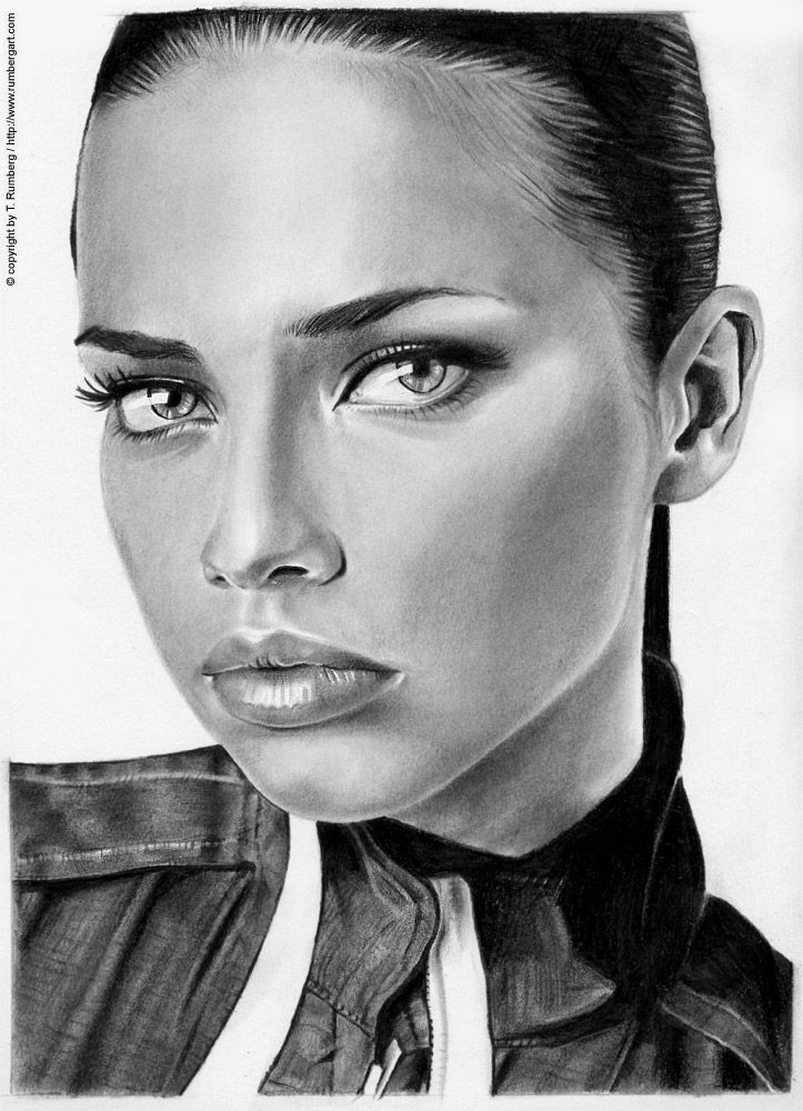 Now, this is a new one. This took me a bit longer, lot´s of sweat and a big portion of patience ... but the result is very satisfying. The portrait of Adriana Lima (I think a famous brasilian model...