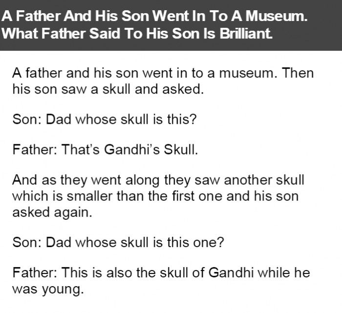 A Father And His Son Went In To A Museum. What Father Said To His Son Is Brilliant.