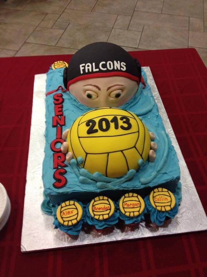 Falcons water polo team cake