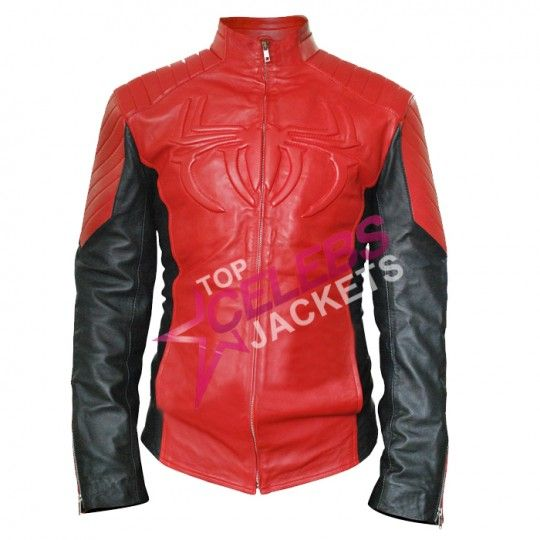 A Spiderman replica leather jacket looks stylish when worn with anything you have.