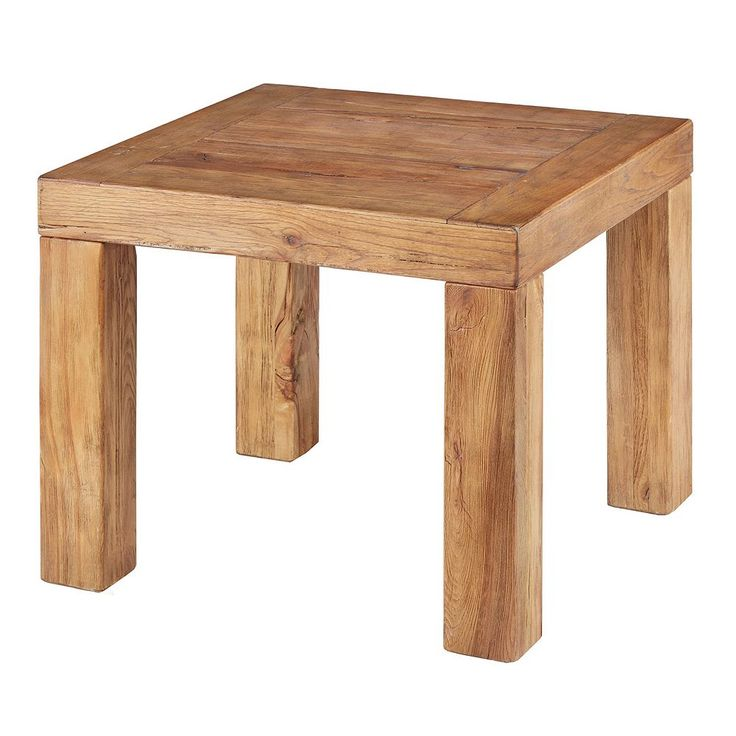 Ink+ivy Easton Distressed End Table, Natural