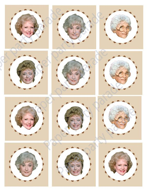 DIY Printable Golden Girls Cupcake Toppers by PaperPartyParade