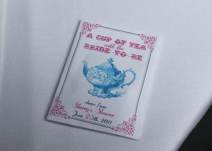 Bridal shower tea party favors DIY