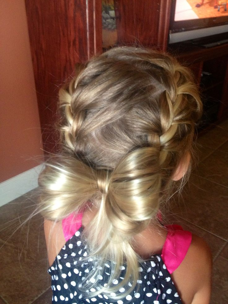 Ravyns braided hair! Cute little girl hair style :)