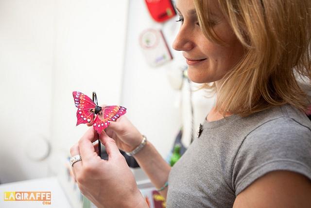 Diadema mariposa! en lagiraffe.