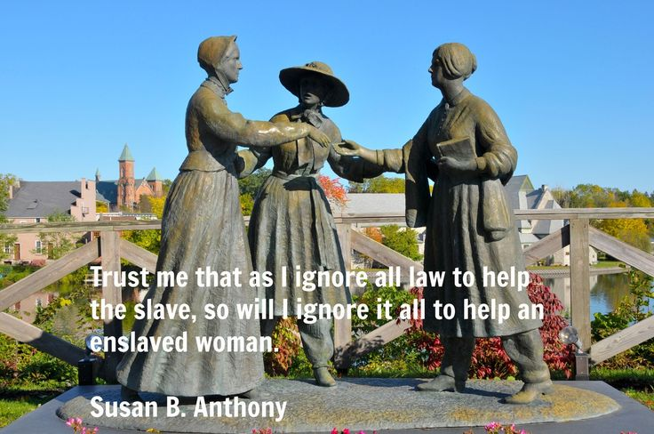 Susan B. Anthony in a moment of inersectionality
