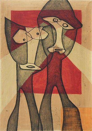 Maria Jarema 'Dwie głowy', 1953