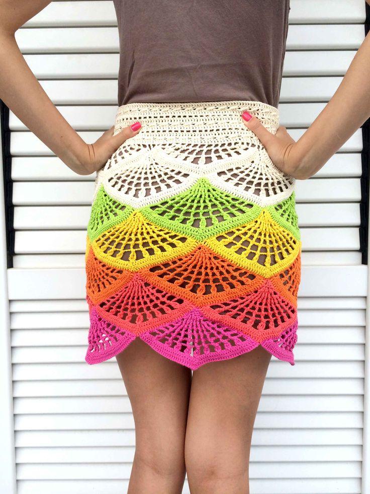 Crochet Mini Skirt Tutorial   Beautiful Crochet Stuff