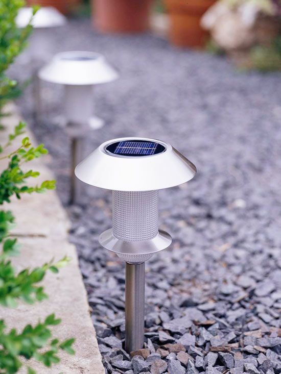 Light the Night  Surround your outdoor living spaces with lighting that will let you carry the conversation into the evening. Installing low-voltage lights is a simple do-it-yourself project; or skip the need for electrical wiring by choosing solar-powered lights.