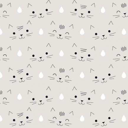Wallpaper Cats Juliette Collet http://www.jimmycricket.com.au/wallpaper/juliette-collet-cats-wallpaper-grey.html