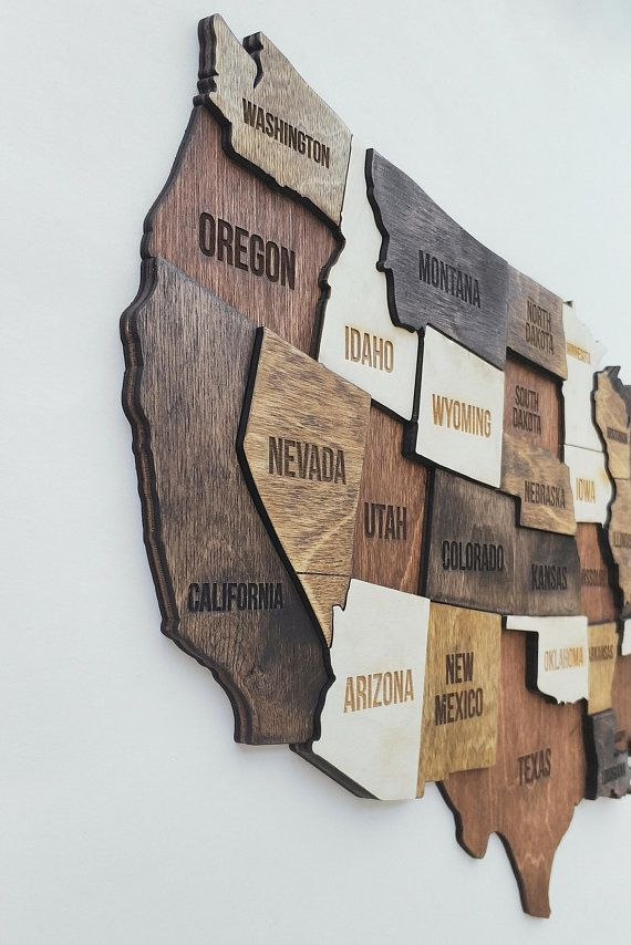 Wood United States Map.Usa Map Wooden United State Map Wood Us Map Of America For The