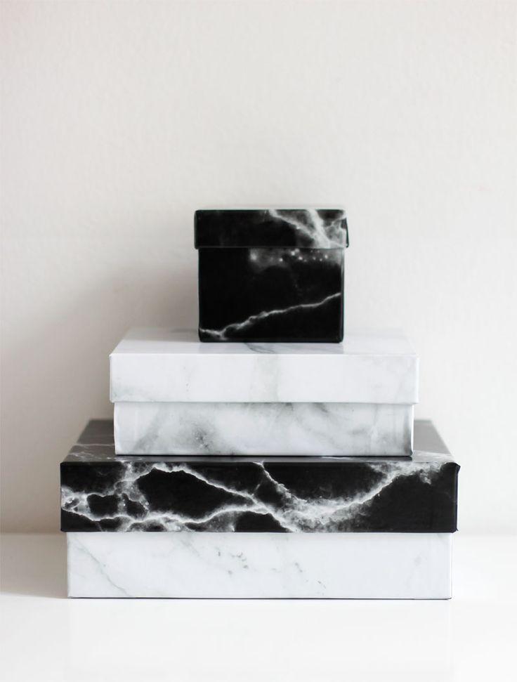 we love handmade | Upcycling-DIY: Marble-Boxen | http://welovehandmade.at