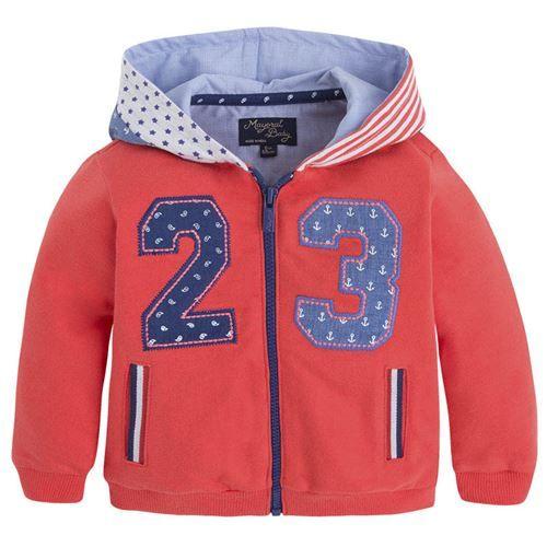 Mayoral Erkek Bebek Yazlık Kapşonlu Ceket Istakoz Rengi