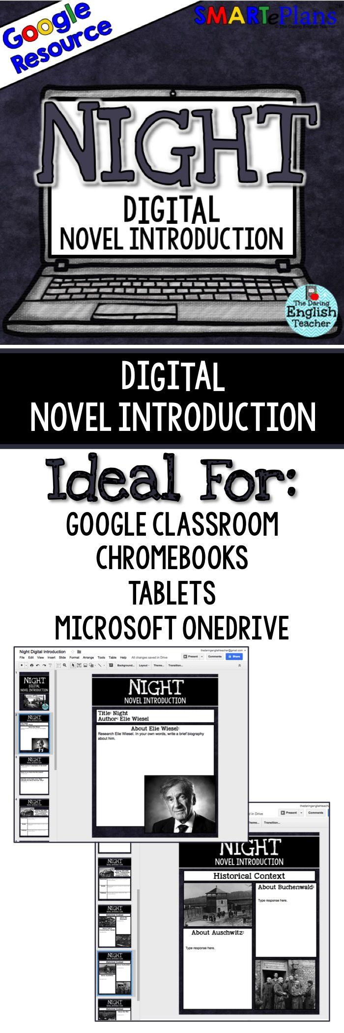 Digital Night Introduction. Elie Wisel. SMARTePlans. Google Classroom. Google Drive.