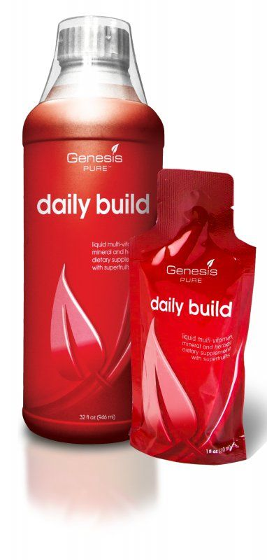 Doesn't taste great -not going to lie - but more than 300 vitamins - Daily Build | Store | Genesis PURE www.genesispure.com/amyharris