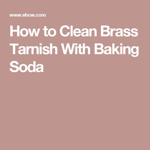 How to Clean Brass Tarnish With Baking Soda