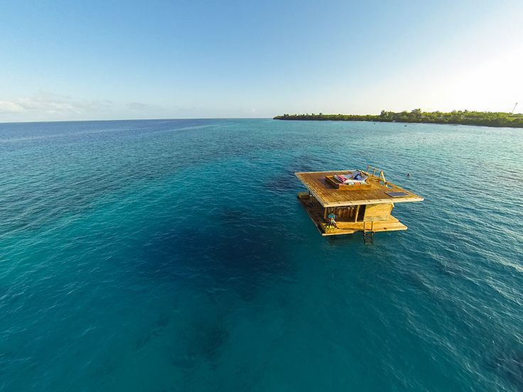 Manta Resort, Tanzania.  The Underwater Room.  Only $1500 a night. hello dream!