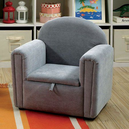 Ginny Contemporary Kids Chair, Gray