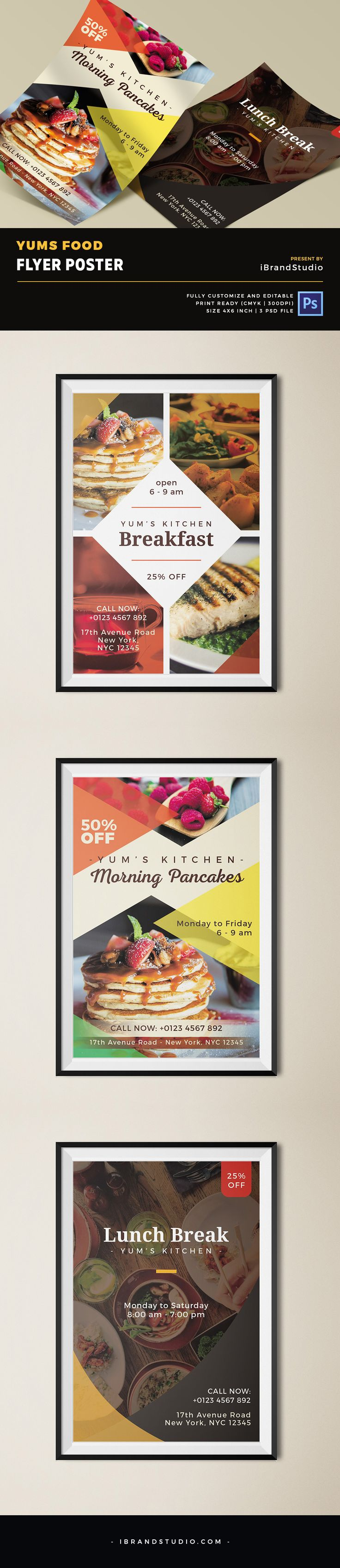 Yums Food - Free Business Flyer Template