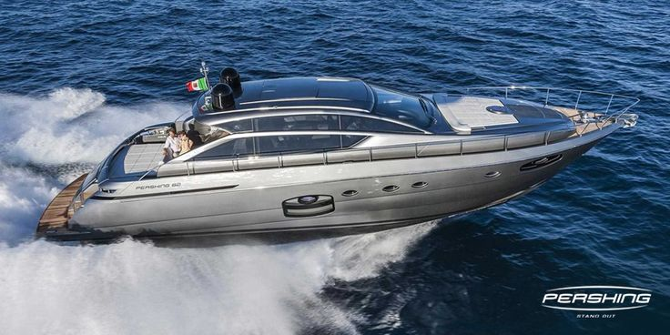 Pershing 62 at the Palm Beach International Boat Show