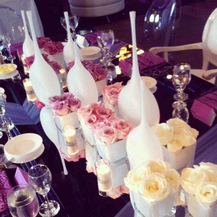 Purple Ombre Centerpiece : Images about centerpieces on pinterest wedding