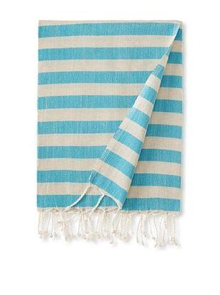 Nomadic Thread Society Linen Hammam Towel (Teal)