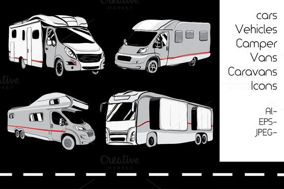 4 cars Recreational Vehicles Camper  @creativework247