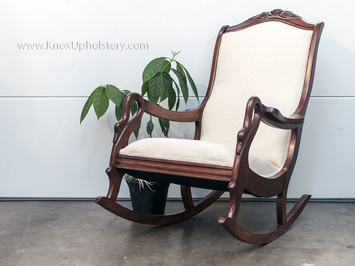 antique swan neck rocking chair  upholstery  join us on facebook  s      facebook com