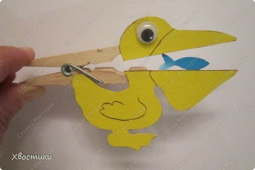 Обычные прищепки превращаются... в живые игрушки для малышей! Идея не моя - увидела в И-нете. Просто нарисовала свои шаблончики и сделала для сыночка вот такие игрушки. Придумала к ним небольшие стишки. фото 5