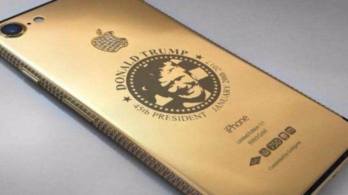 Mengejutkan, Seorang Wanita Membeli iPhone 7 Bergambar Donald Trump Berlapis Emas dan Berlian Putih
