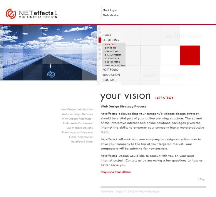 Neteffects1 website in 2003