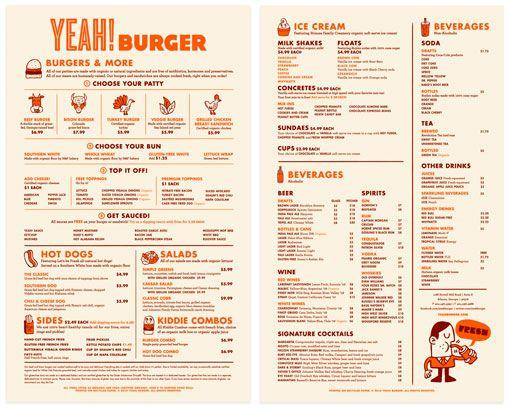 how to make a good menu for restaurant